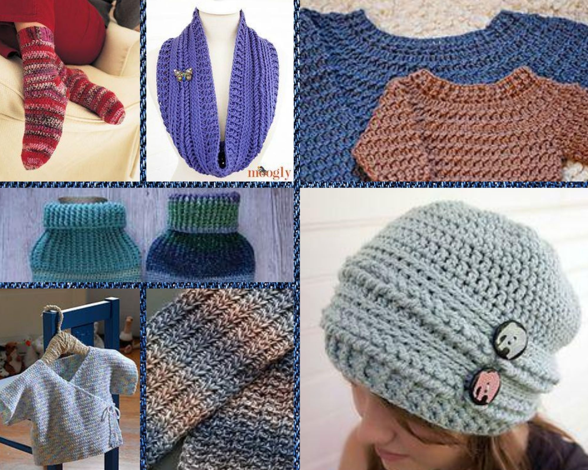 Crochet patterns suitable for the HIY August Mini Yarn Subscription Box