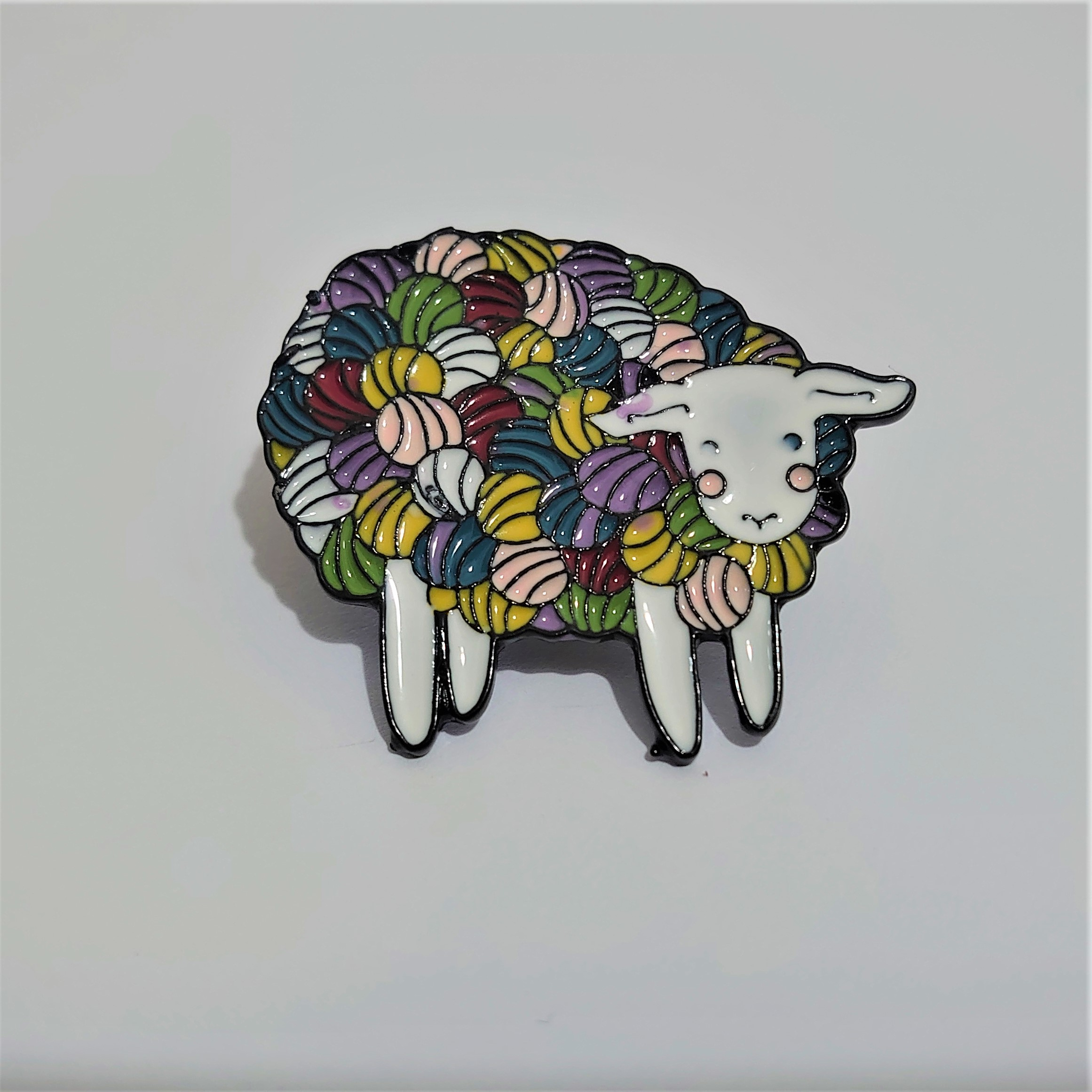 Woolly Sheep Soft Enamel Pin