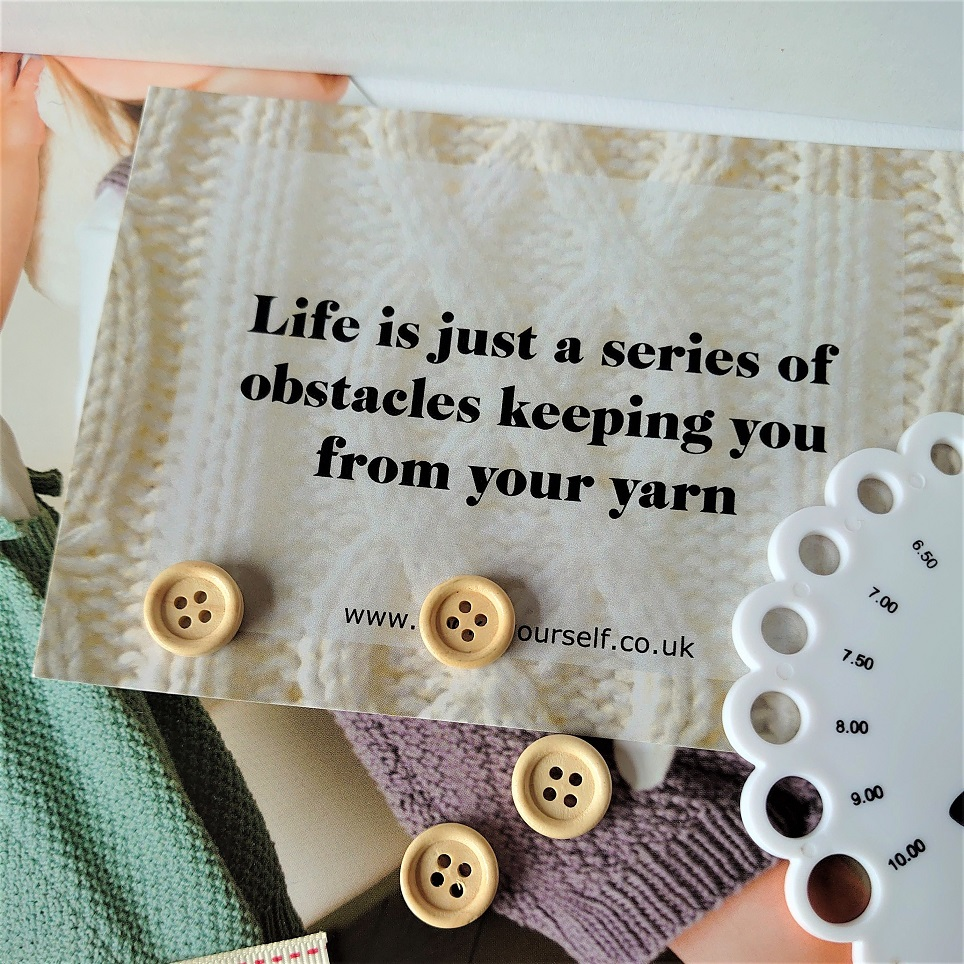 Life is just a series of obstacles postcard