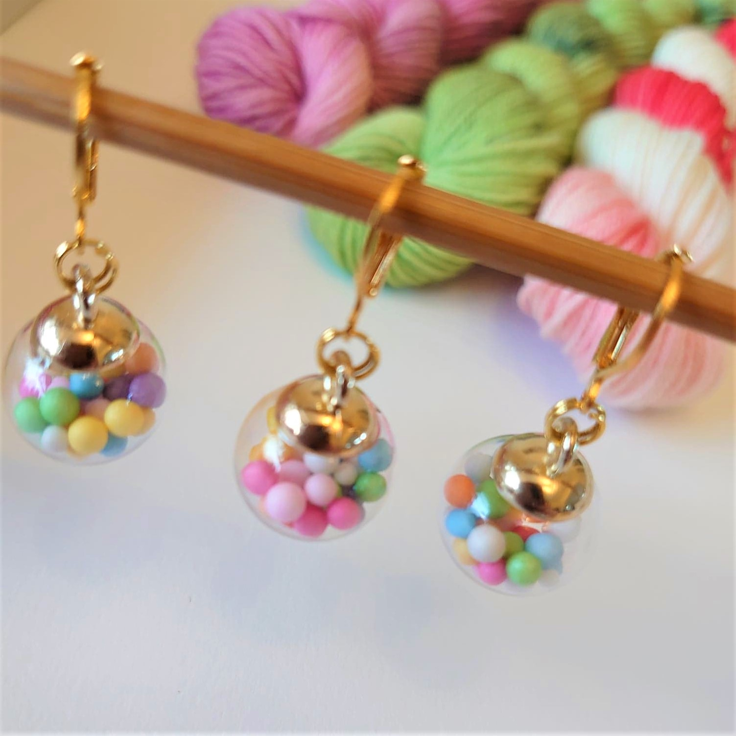 Bright Bauble Stitch Markers