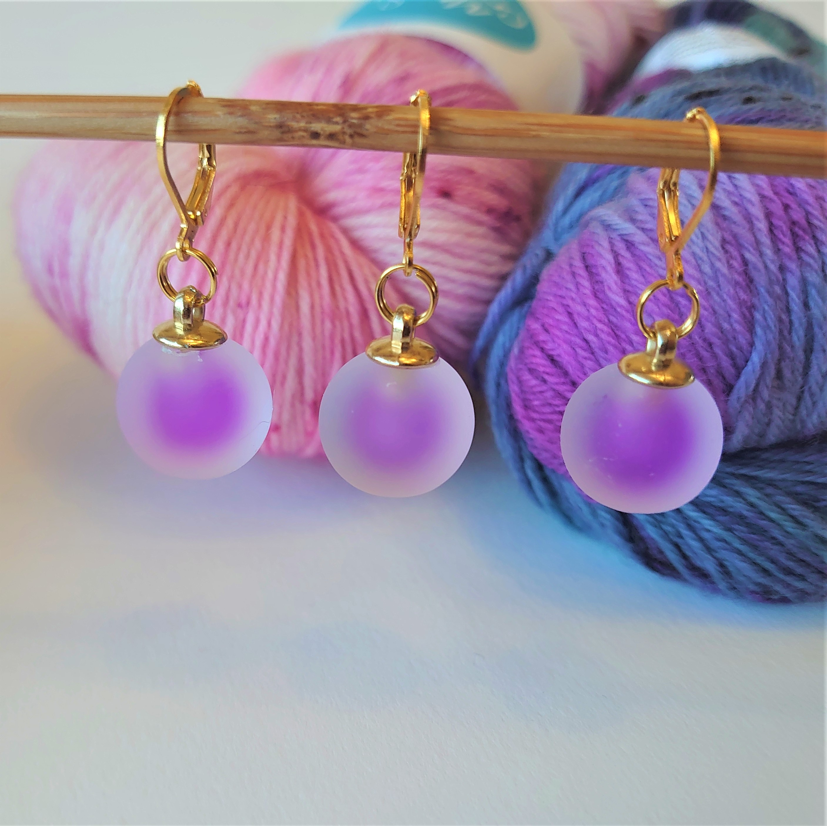 Lilac Frosted Stitch Markers